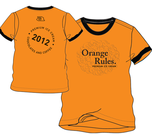T-shirt goldbox orange rules XL