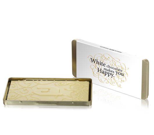 Chocolate goldbox bar white organic