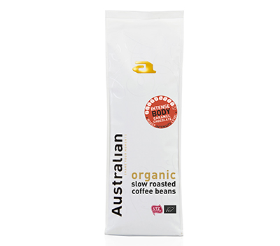 Coffee beans slowroast intense body 750 gram UTZ organic