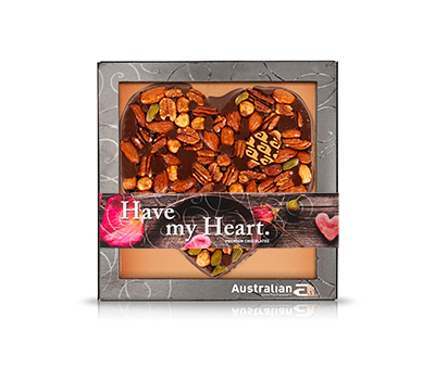 Chocolate heart dark exclusive nuts