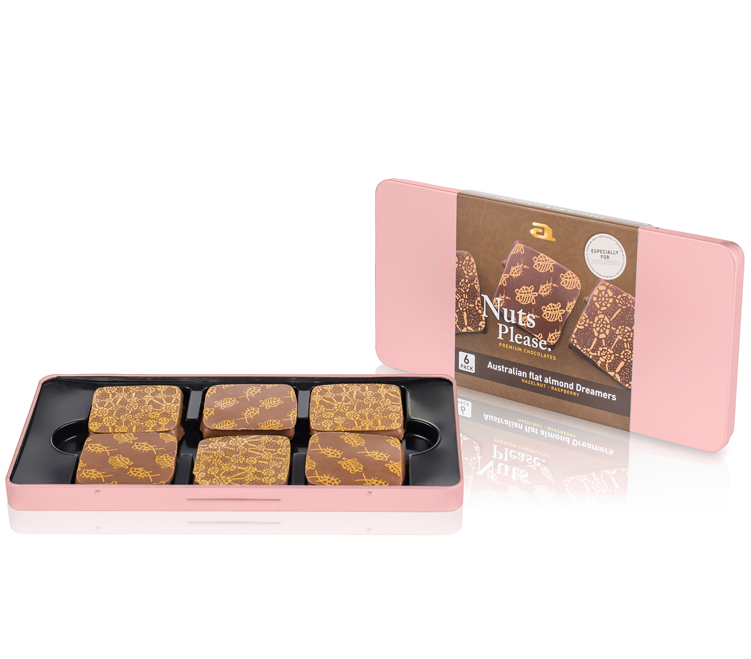 Six-pack steelbox almond dreamers milk