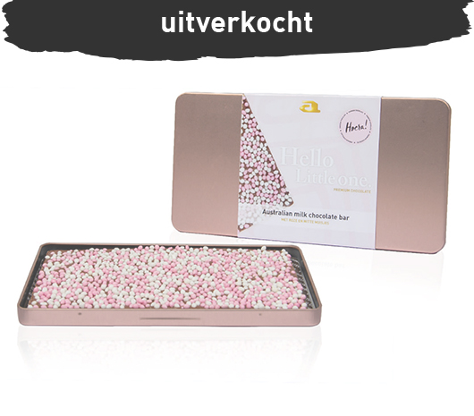 Luxury chocolate steelbox bar milk baby pink