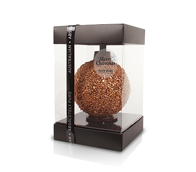 Christmas ball bronze sprinkles milk
