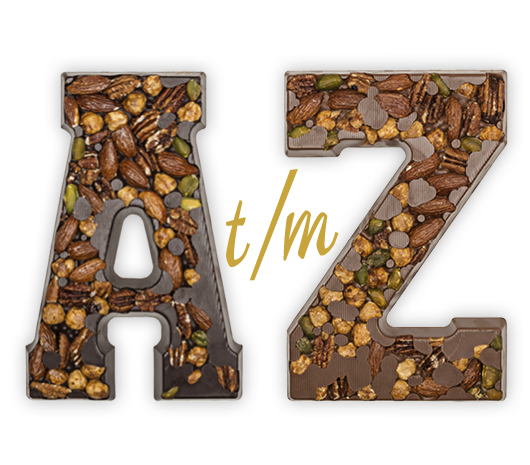 Chocolate letter exclusive milk & dark A-Z